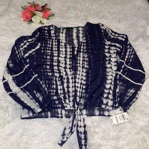 INC International Concepts tie dye blouse top XL